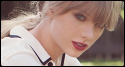 Taylor Swift em photoshoot para o álbum Red