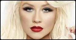 Christina em photoshoot para a fragrância Red Sin