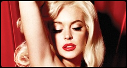 Lohan em ensaio fotográfico para a Playboy