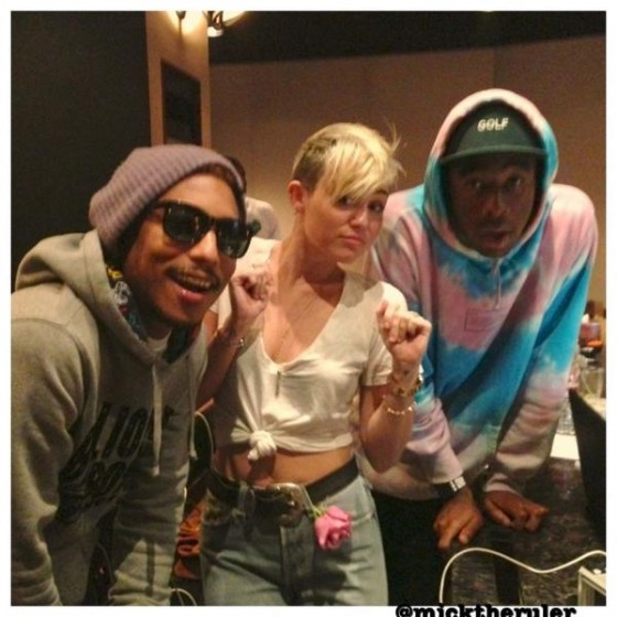 Miley-Cyrus-Tyler-The-Creator-In-The-Studio-560x560